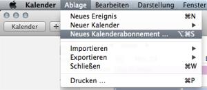 Kalender abonnieren Mac OS X 2