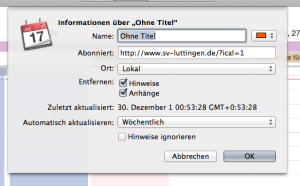 Kalender abonnieren Mac OS X 4