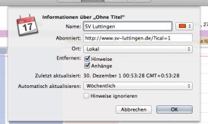 Kalender abonnieren Mac OS X 5